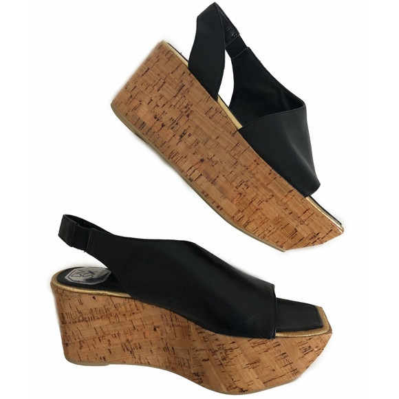 389b2f5aeeb Donald J. Pliner Shoes - Donald Pliner Black Bridget Wedge Sandal 7.5 NWOT